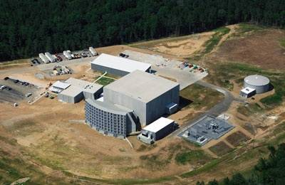 Ariel view of the new research facility.
