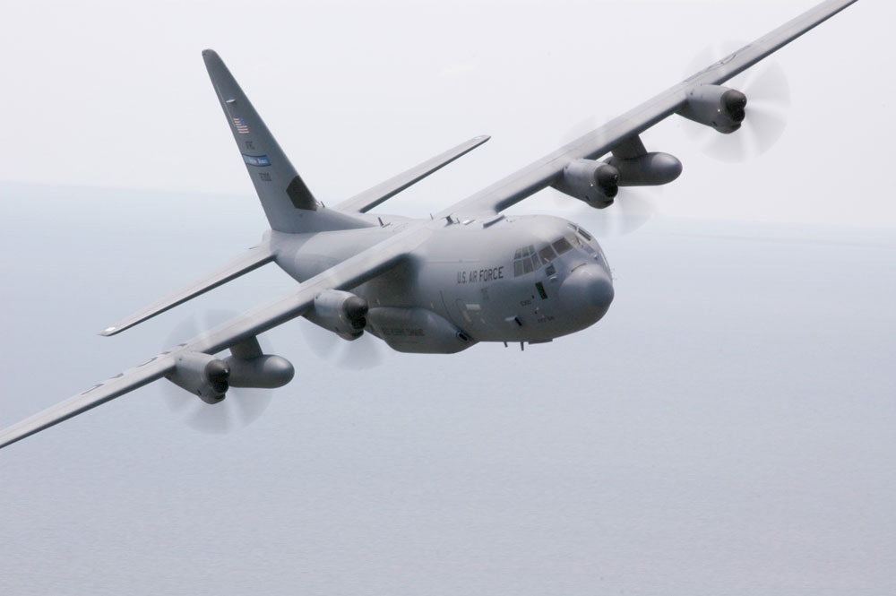 "The state-of-the-art WC-130J flown by the ""Hurricane Hunters"" of the 53rd Weather Reconnaissance Squadron"
