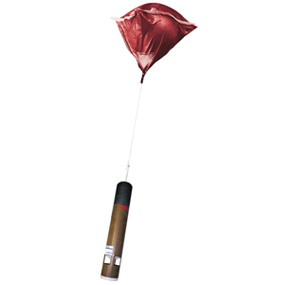 A dropsonde is a sensor that measures temperature, pressure, wind and humidity of the atmosphere.
