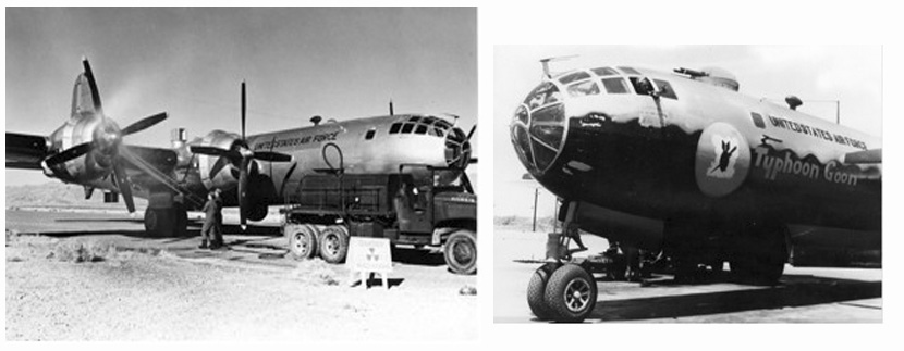Two photos of weather aircraft from the 1950s.