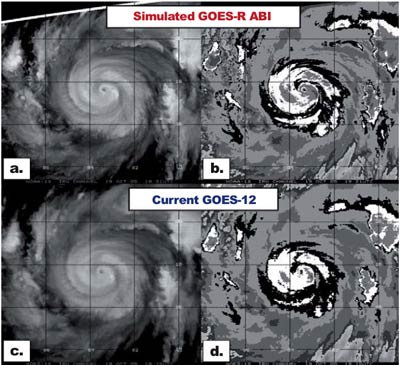 Simulated data showing the improvements expected with GOES-R